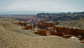 Charyn峡谷,哈萨克斯坦,阿尔玛蒂 免版税库存图片