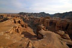 Charyn河的峡谷 免版税库存照片