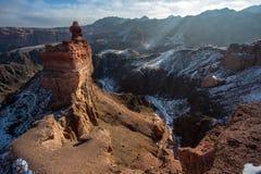 Charyn canyon in Almaty Stock Image