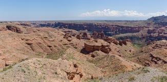 Charyn canyon in Almaty region of Kazakhstan Stock Photography