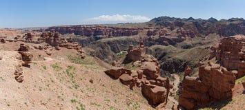Charyn canyon in Almaty region of Kazakhstan. Royalty Free Stock Photo