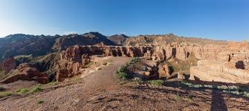 Charyn canyon in Almaty region of Kazakhstan. Stock Images