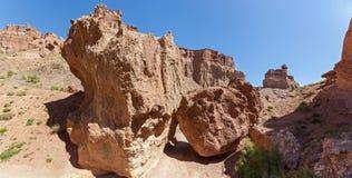 Charyn canyon in Almaty region of Kazakhstan. Stock Image