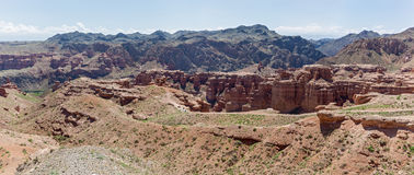 Charyn canyon in Almaty region of Kazakhstan. Stock Photos