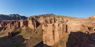 Charyn canyon in Almaty region of Kazakhstan. Royalty Free Stock Photography