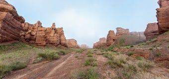 Charyn canyon in Almaty region of Kazakhstan. Stock Photo