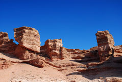 Charyn Canyon In Kazakhstan Stock Photography