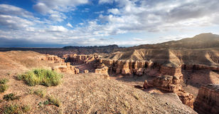 Charyn canyon in Kazakhstan Stock Photo