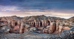 Charyn canyon in Kazakhstan Royalty Free Stock Photos
