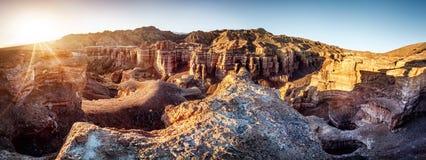 Charyn canyon in Kazakhstan Royalty Free Stock Photo