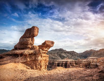 Charyn canyon in Kazakhstan Royalty Free Stock Images