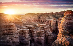 Charyn canyon in Kazakhstan Stock Photos