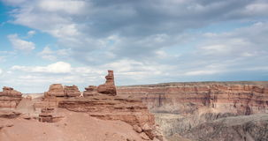 Charyn canyon in Kazakhstan stock video footage