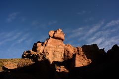Charyn canyon in Kazakhstan and travel in country stock image