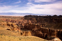 Charyn Canyon. Charyn Canyon, situated on the spurs of the Tian Shan Mountains, near the Chinese border, 200 km from Almaty. A picturesque place called 'Valley royalty free stock image
