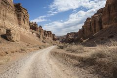 Charyn Canyon and the Valley of Castles, National park, Kazakhstan. royalty free stock photos