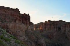 Charyn kanjon Royaltyfria Bilder