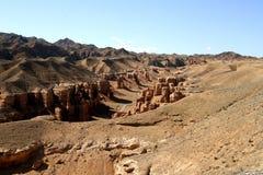 Charyn kanjon i Kasakhstan Arkivbild
