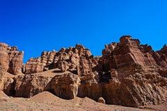 Charyn kanjon arkivbilder