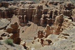 Charyn kanjon, Kasakhstan, Almaty Arkivfoton