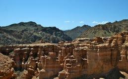 Charyn kanjon, Kasakhstan, Almaty Arkivfoto