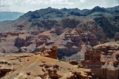 Charyn kanjon, Kasakhstan, Almaty Arkivbild