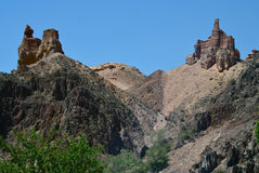 Charyn kanjon, Kasakhstan, Almaty Arkivbilder