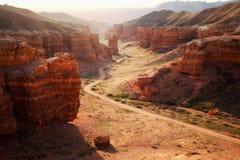 charyn kazakhstan каньона стоковое изображение