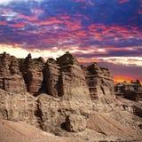 charyn kazakhstan каньона стоковая фотография rf