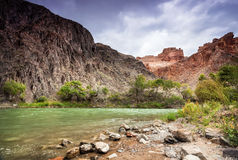 Charyn river in canyon of east Kazakhstan Royalty Free Stock Photos
