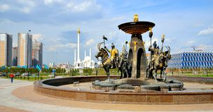 New Square Kazakh Eli in Astana Stock Image
