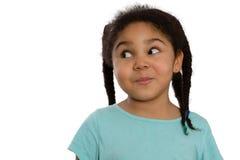 Charyzmatyczna mała amerykanin afrykańskiego pochodzenia dziewczyna Zdjęcie Royalty Free
