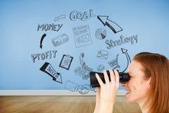 Charyzmatyczny bizneswomanu przepowiadania przyszłości sukces Zdjęcia Stock