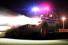 Chase. Scene of the patrol car,  executed in 3 D Stock Images