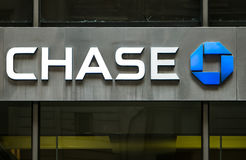 Chase bank branch sign Royalty Free Stock Images