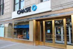 Chase Bank Chicago Stock Image