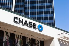 Chase Bank Office. In Hollywoor, California Stock Photography