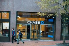 Chase bank office branch entrance royalty free stock photography