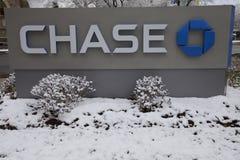Chase Bank in Stamford, Stamford, de V.S. stock foto's