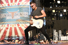 Chase Bryant. Performs at Country Thunder Music Festival on July 20, 2017 in Twin Lakes, Wisconsin Stock Images
