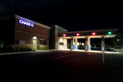Chase drive-up at night Royalty Free Stock Photography
