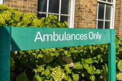Chase farm hospital in Enfield london. Enfield, london. June 2018. A view of signage at Chase Farm hospital in Enfield london Stock Photo
