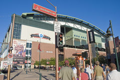 Chase Field. The entrance to Chase Field, home of the Arizona Diamondbacks Stock Images