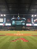 Chase Field Home The For The Arizona Diamondbacks Stock Image