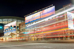 Chase Field at night in Phoenix, AZ Royalty Free Stock Photos