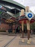 Chase Field, Phoenix, AZ. PHOENIX, AZ, USA - AUGUST 2, 2017: Arizona Diamondbacks home stadium in Phoenix downtown, Chase Field Stock Image