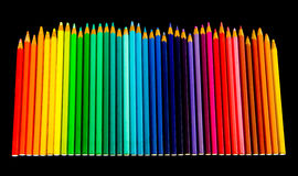 Chase kind of color pencil Stock Images