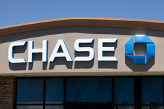 Chase National Financial Bank. Sign of Chase Bank, a nationwide financial institution in the United States Stock Photography