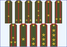 Officer's insignia. Stock Images