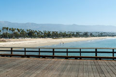 Chase Palm Park seen from Stearns Wharf in Santa Barbara Royalty Free Stock Photo